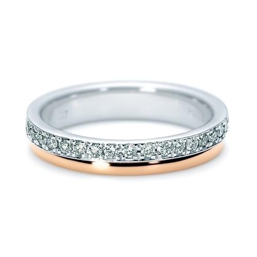 【ジュエリーネモト】 NINA RICCI・6RM0001 結婚指輪 結婚指輪(女性用):¥203,040(税込) 結婚指輪(男性用):¥203,040(税込) 結婚指輪としても記念日ジュエリーとしても、大活躍のハーフエタニティリング。指にしっくりと馴染むピンクゴールドとプラチナのコンビネーションのデザインです。 Pt900 K18PG Dia